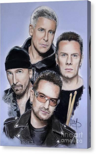 U2 Canvas Print - U2 by Melanie D