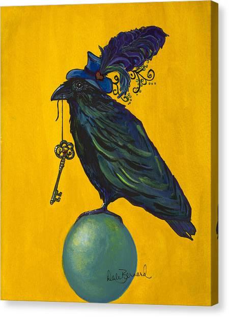 Uncommon Raven Love 2 Canvas Print