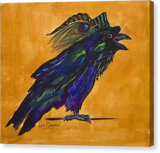 Uncommon Raven Love 3 Canvas Print