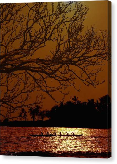 Tropical Sunset Canvas Print - Under The Sunset by Athala Carole Bruckner