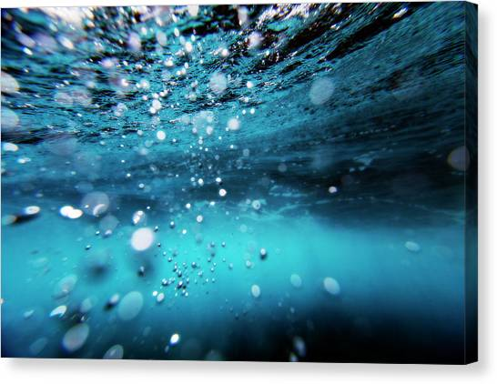 Underwater Bubbles Canvas Print by Subman
