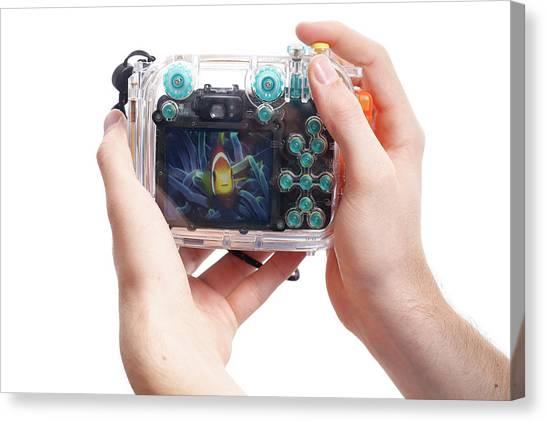 Anemonefish Canvas Print - Underwater Camera by Michael Szoenyi