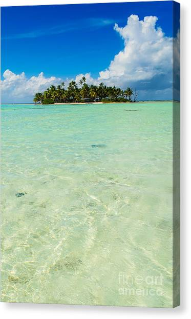 Uninhabited Island In The Pacific Canvas Print
