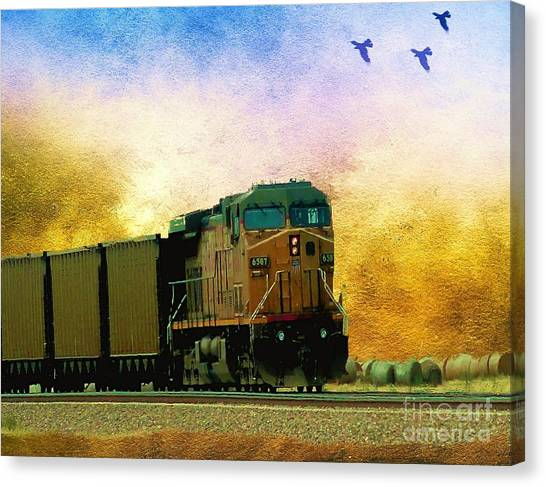 Union Pacific Coal Train Canvas Print
