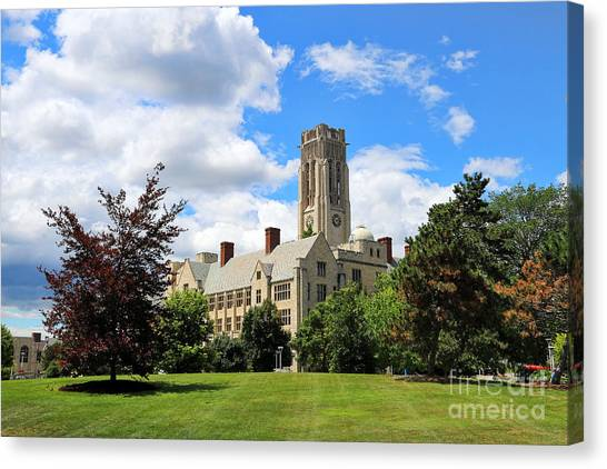 University Of Toledo Canvas Print - University Hall-university Of Toledo 1589 by Jack Schultz