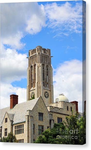 University Of Toledo Canvas Print - University Hall-university Of Toledo 1591 by Jack Schultz