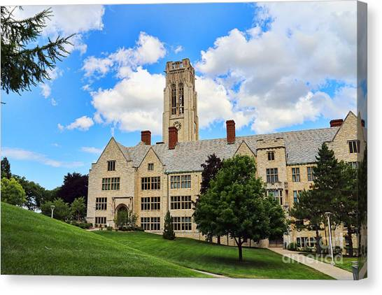 University Of Toledo Canvas Print - University Hall University Of Toledo 1604 by Jack Schultz