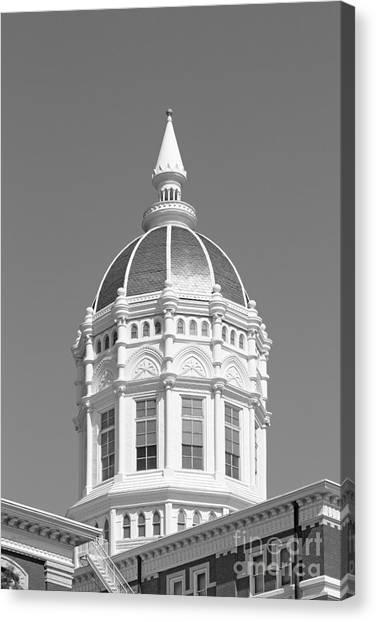 University Of Missouri Canvas Print - University Of Missouri Columbia Jesse Hall by University Icons
