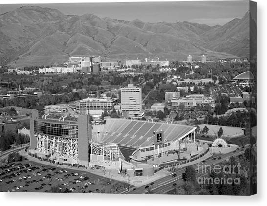 University Of Utah Canvas Print - University Of Utah Rice Stadium by Bill Cobb