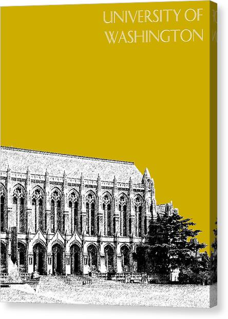University Of Washington Canvas Print - University Of Washington - Suzzallo Library - Gold by DB Artist