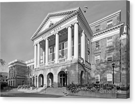 University Of Wisconsin - Madison Canvas Print - University Of Wisconsin Madison Bascom Hall by University Icons
