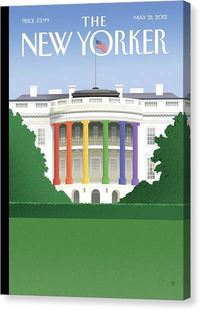 President Canvas Print - Spectrum Of Light by Bob Staake