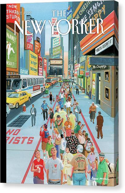 New Yorker October 3rd, 2011 Canvas Print by Bruce McCall