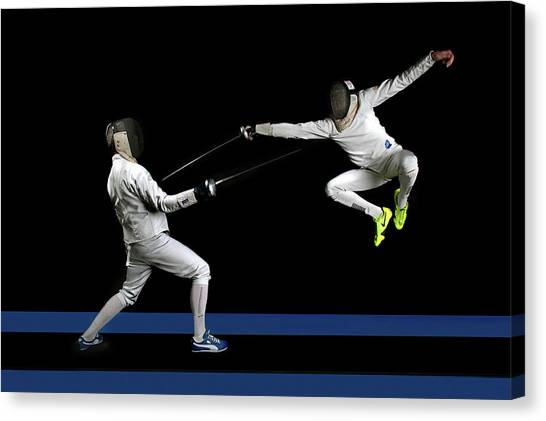 Fighting Canvas Print - Untitled by Hilde Ghesquiere