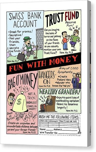 Grandpa Canvas Print - New Yorker April 24th, 2000 by Ruben Bolling