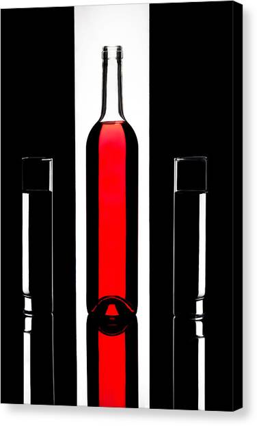 Red Wine Canvas Print - Untitled by Stephen Clough