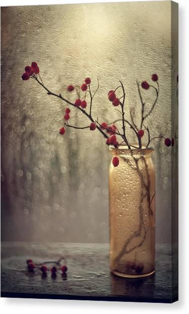 Drops Canvas Print - Untitled by Valeriya Tikhonova