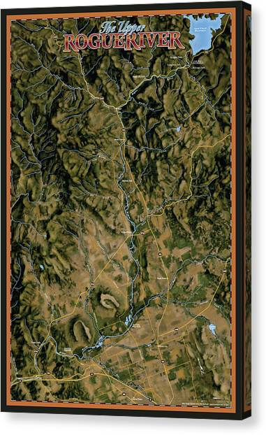 Upper Rogue River Canvas Print by Pete Chadwell