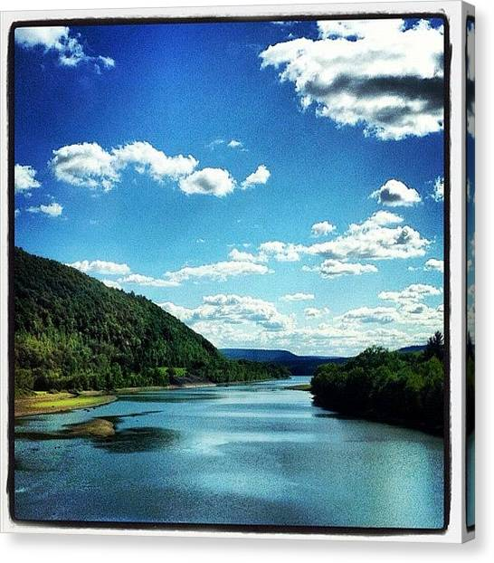 Sky Canvas Print - Upstate Ny by Mike Maher