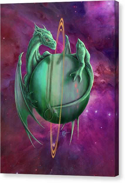 Uranus Canvas Print - Uranus Dragon by Rob Carlos