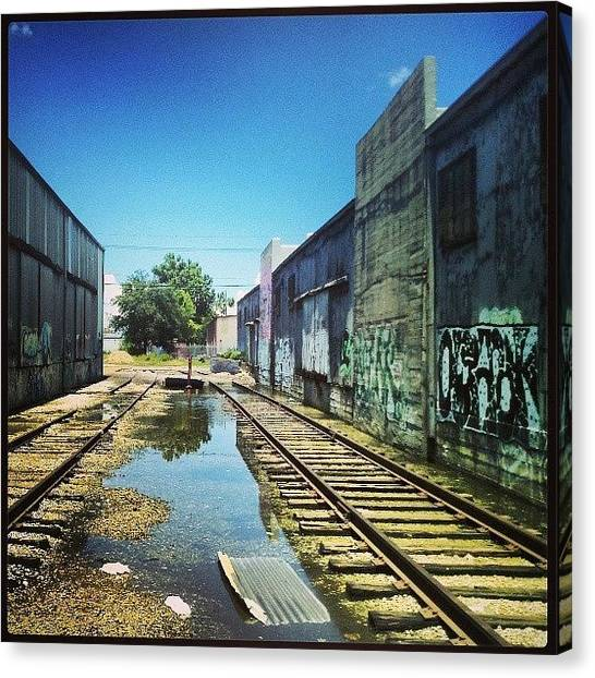 Warehouses Canvas Print - #urbanart #nola by Glen Abbott