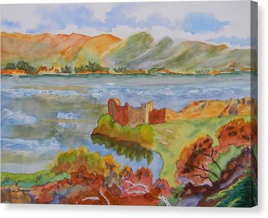 Urquhart Castle Canvas Print by Warren Thompson