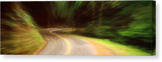 Accelerate Canvas Print - Usa , California, Marin County, Road by Panoramic Images
