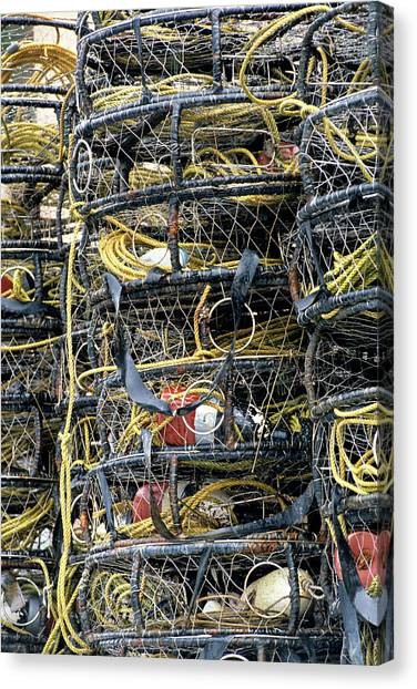 Crabbing Canvas Print - Usa, Alaska, Wrangell, Crab Pots by Gerry Reynolds