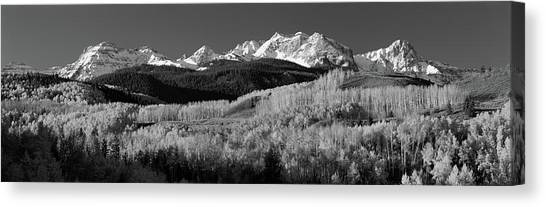 Mountainscape Canvas Print - Usa, Colorado, Rocky Mountains, Aspens by Panoramic Images