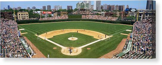 Wrigley Field Canvas Print - Usa, Illinois, Chicago, Cubs, Baseball by Panoramic Images