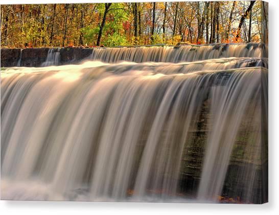 Indiana Autumn Canvas Print - Usa, Indiana Cataract Falls State by Rona Schwarz