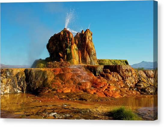 Black Rock Desert Canvas Print - Usa, Nevada, Gerlach, Fly Geyser, Black by Bernard Friel