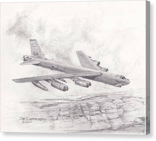Usaf B-52 Stratofortress  Canvas Print