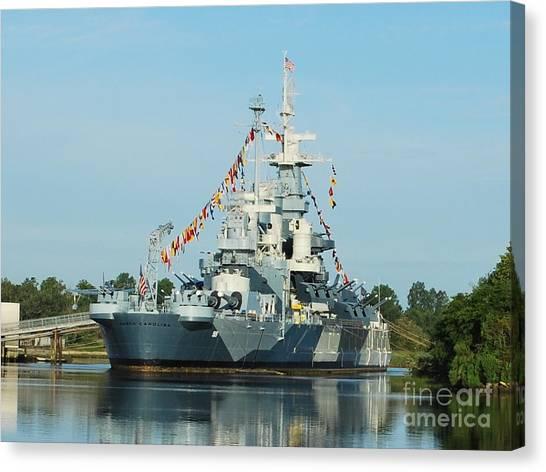 Uss North Carolina Battleship Canvas Print