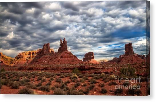 Sandy Desert Canvas Print - Valley Of The Gods II by Robert Bales