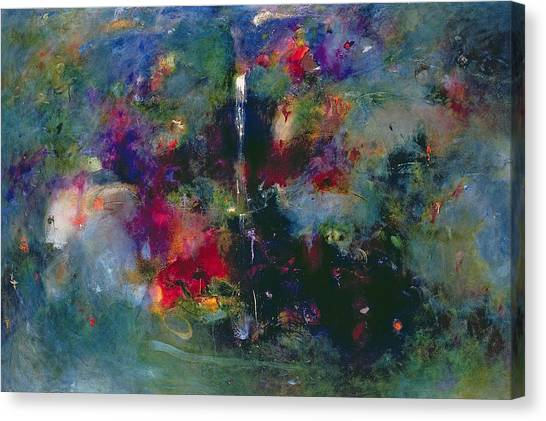 Lyrical Abstraction Canvas Print - Valley Of The Waterfalls by Jane Deakin
