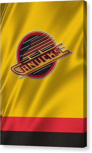Vancouver Canucks Canvas Print - Vancouver Canucks Uniform by Joe Hamilton
