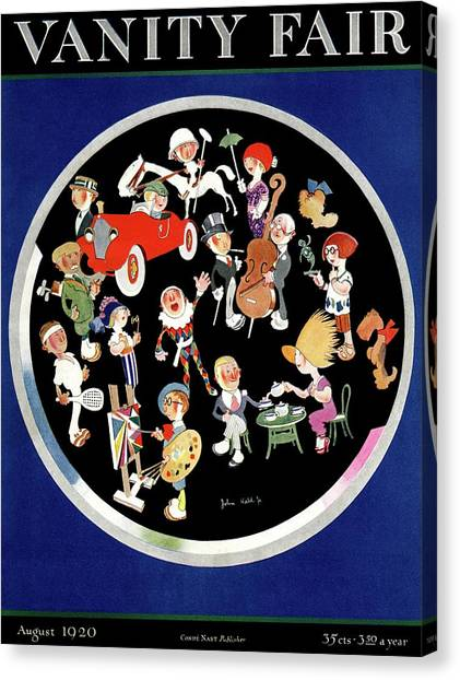 Tennis Players Canvas Print - Vanity Fair Cover Featuring Caricatures Doing by John Held Jr