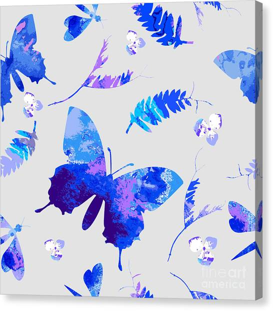 Decoration Canvas Print - Vector Floral Watercolor Texture by Galinal