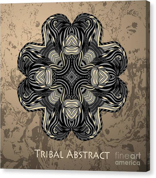 Abstraction Canvas Print - Vector Tribal Abstract Element For by Kakapo Studio