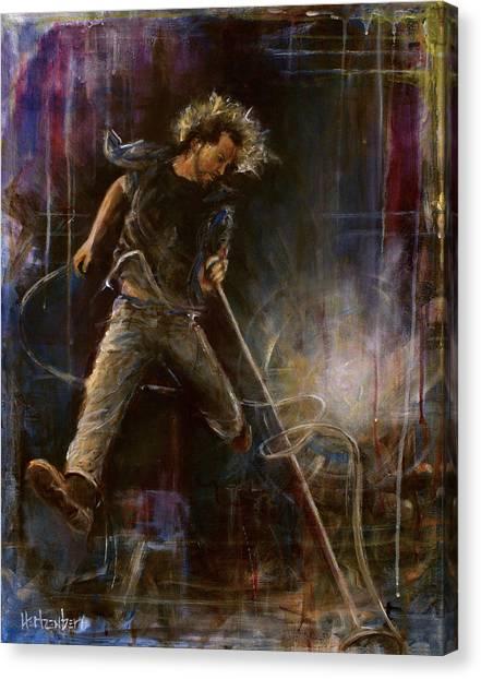 Pearl Jam Canvas Print - Vedder by Josh Hertzenberg