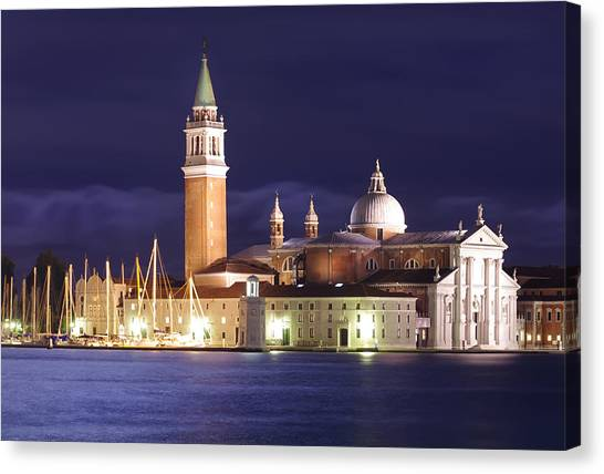 Venice At Night Canvas Print by Ioan Panaite