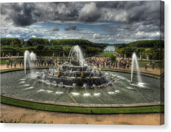 Versailles Fountain Canvas Print