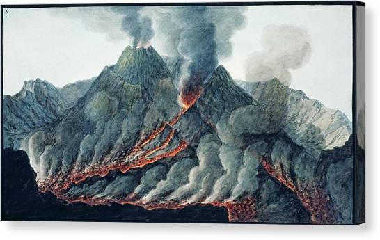 Mount Vesuvius Canvas Print - Vesuvius Erupting by Natural History Museum, London/science Photo Library