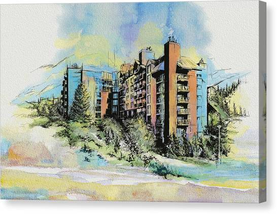 Vancouver Skyline Canvas Print - Victoria Art by Catf