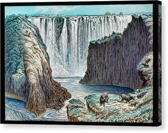 Victoria Falls Canvas Print - Victoria Falls Buffalo by Gustoimages/science Photo Libbrary