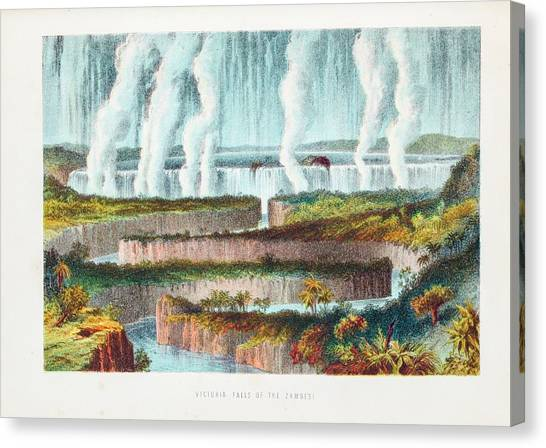 Victoria Falls Canvas Print - Victoria Falls by Gustoimages/science Photo Libbrary
