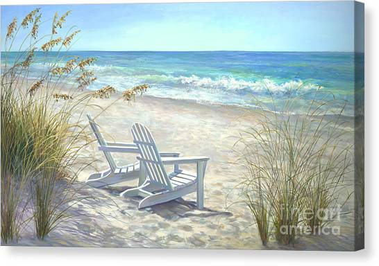 Coconut Canvas Print - View For Two. by Laurie Snow Hein