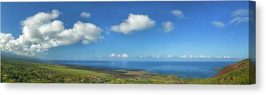 Mauna Loa Canvas Print - View From South Kona With Mauna Loa by Panoramic Images