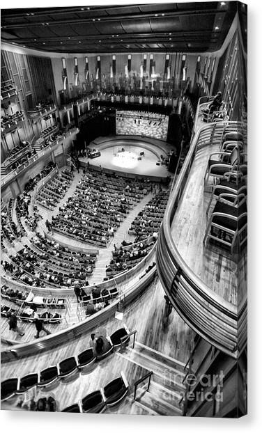 View From The Upper Balcony At Strathmore Music Center Canvas Print